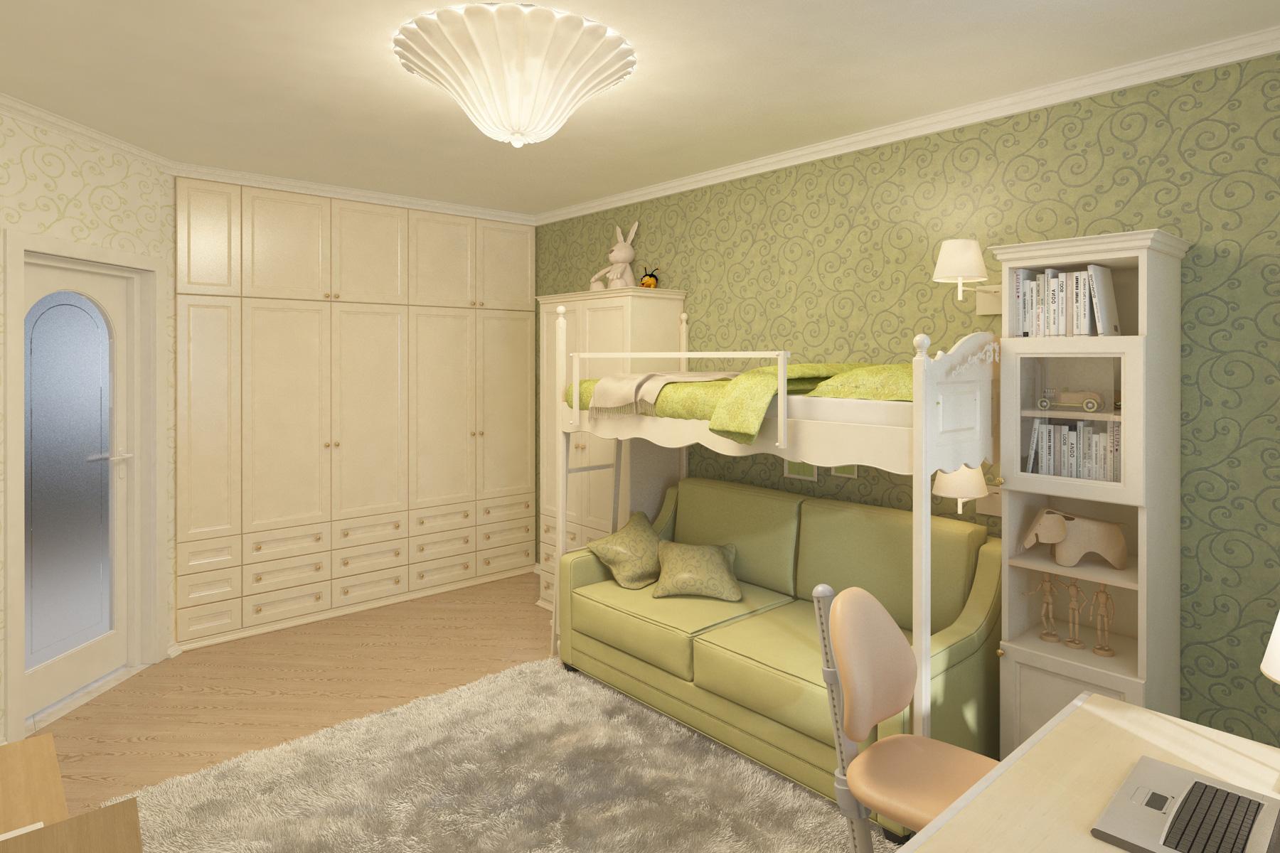 Дизайн интерьера квартиры, усадьба Салтыковка, детская