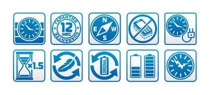 Иконки аккумуляторы.
