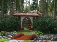 Арка и мостик в китайском стиле