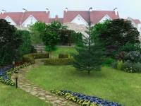 Задний двор загородного участка