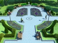Площадка для отдыха в сквере
