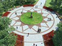 Площадка с памятником.
