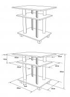 Схема сборки стола.