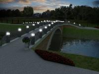 Мост с подсветкой.