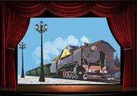 Анимация поезда для сайта.
