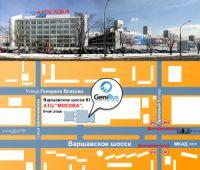 """Карта проезда АТЦ """"Москва""""."""