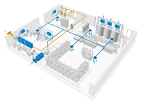 Схема вентиляции производственного цеха.