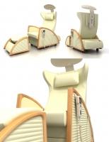 Hi-poly модель массажного кресла.