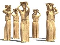 Hi-poly модель греческой Кариатиды.