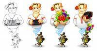 """Персонаж для сайта """"Ванька""""."""