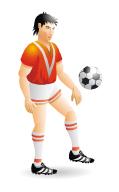 Анимация футболиста для сайта.