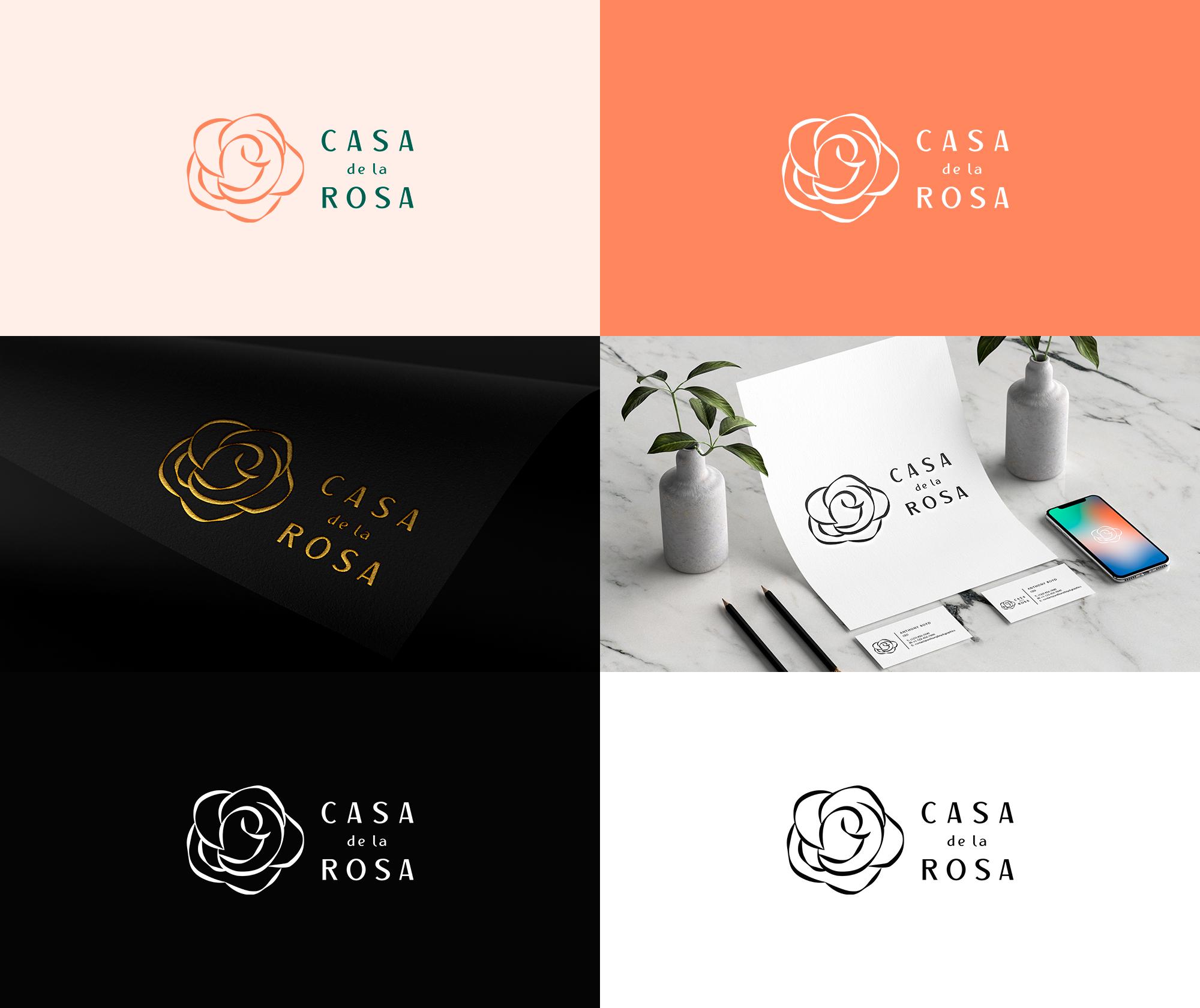 Логотип + Фирменный знак для элитного поселка Casa De La Rosa фото f_0835cd69eadb8c70.jpg