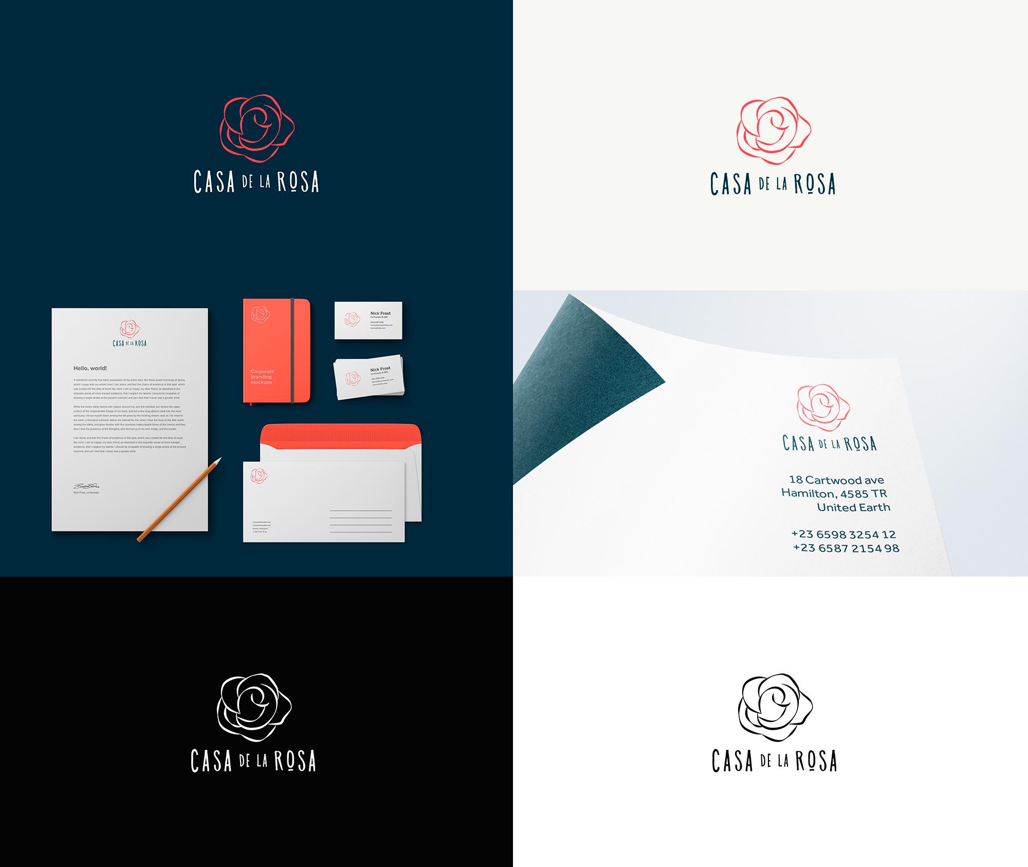 Логотип + Фирменный знак для элитного поселка Casa De La Rosa фото f_3985cd69e8b83839.jpg