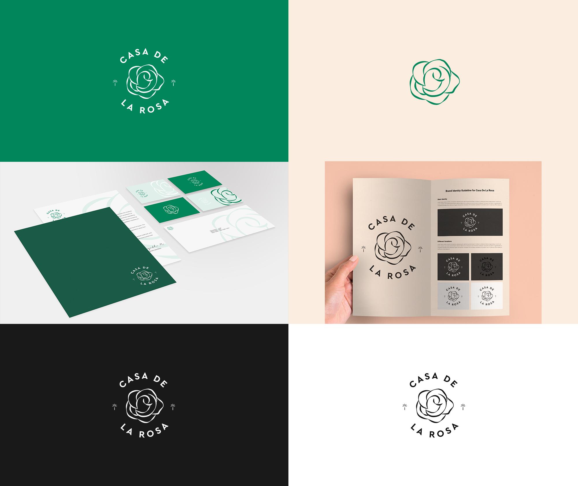 Логотип + Фирменный знак для элитного поселка Casa De La Rosa фото f_4265cd69ea868b72.jpg
