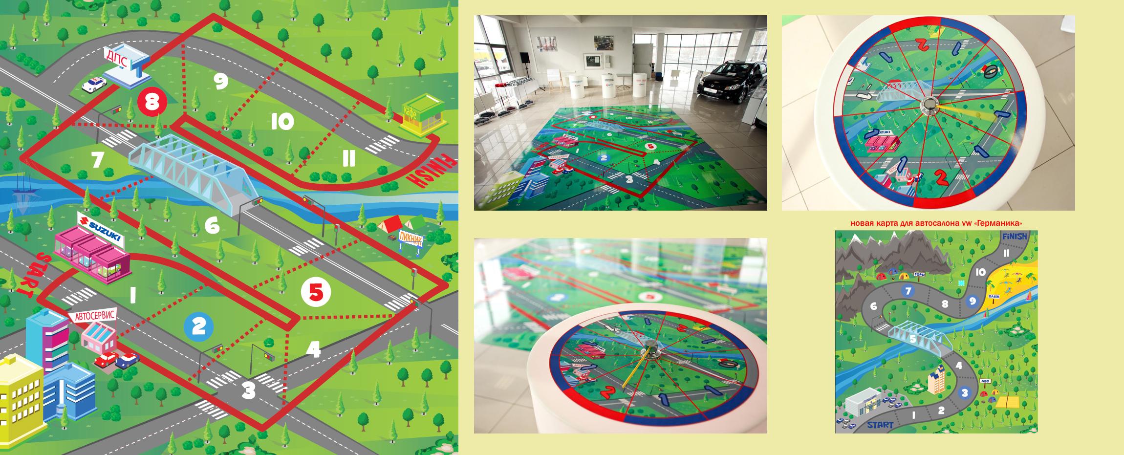 карта для автосалона suzuki   4х4 м