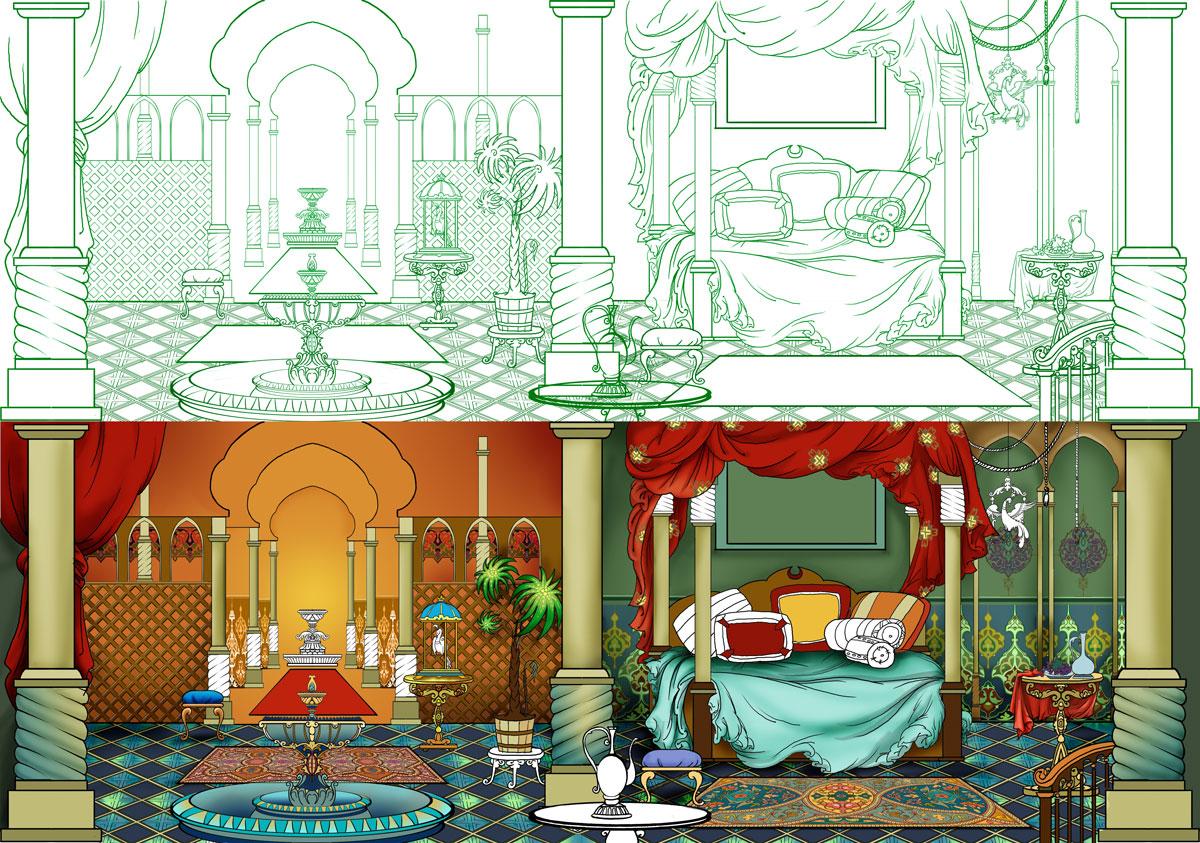 Концепт локации  the Arabian interior