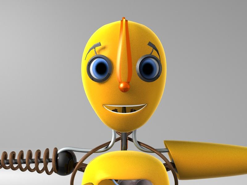 "Модель Робота - Ребёнка ""Роботёнок"" фото f_4b54115979e10.jpg"