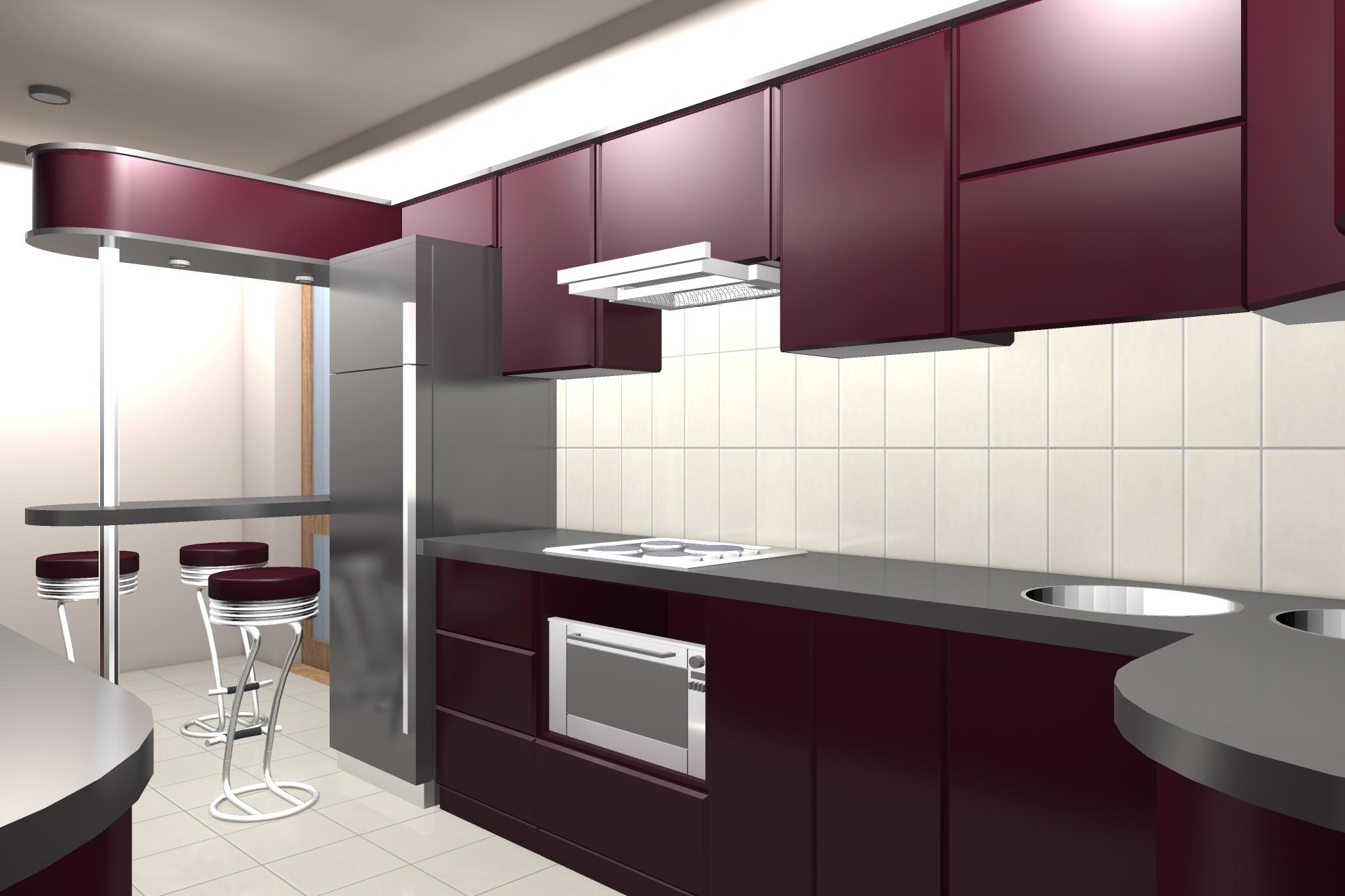 Проект мебелировки гостинного и кухни - 4