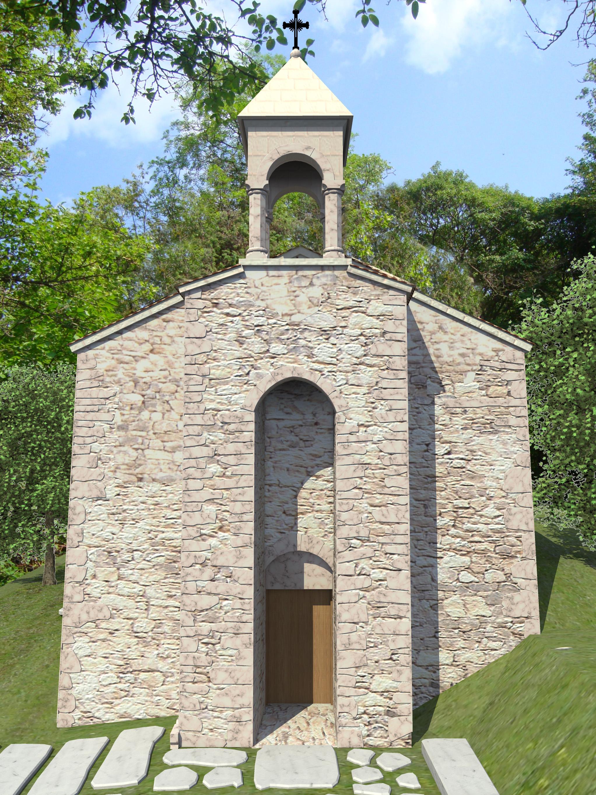 3д визуализация восстановления средневекового храма - 2