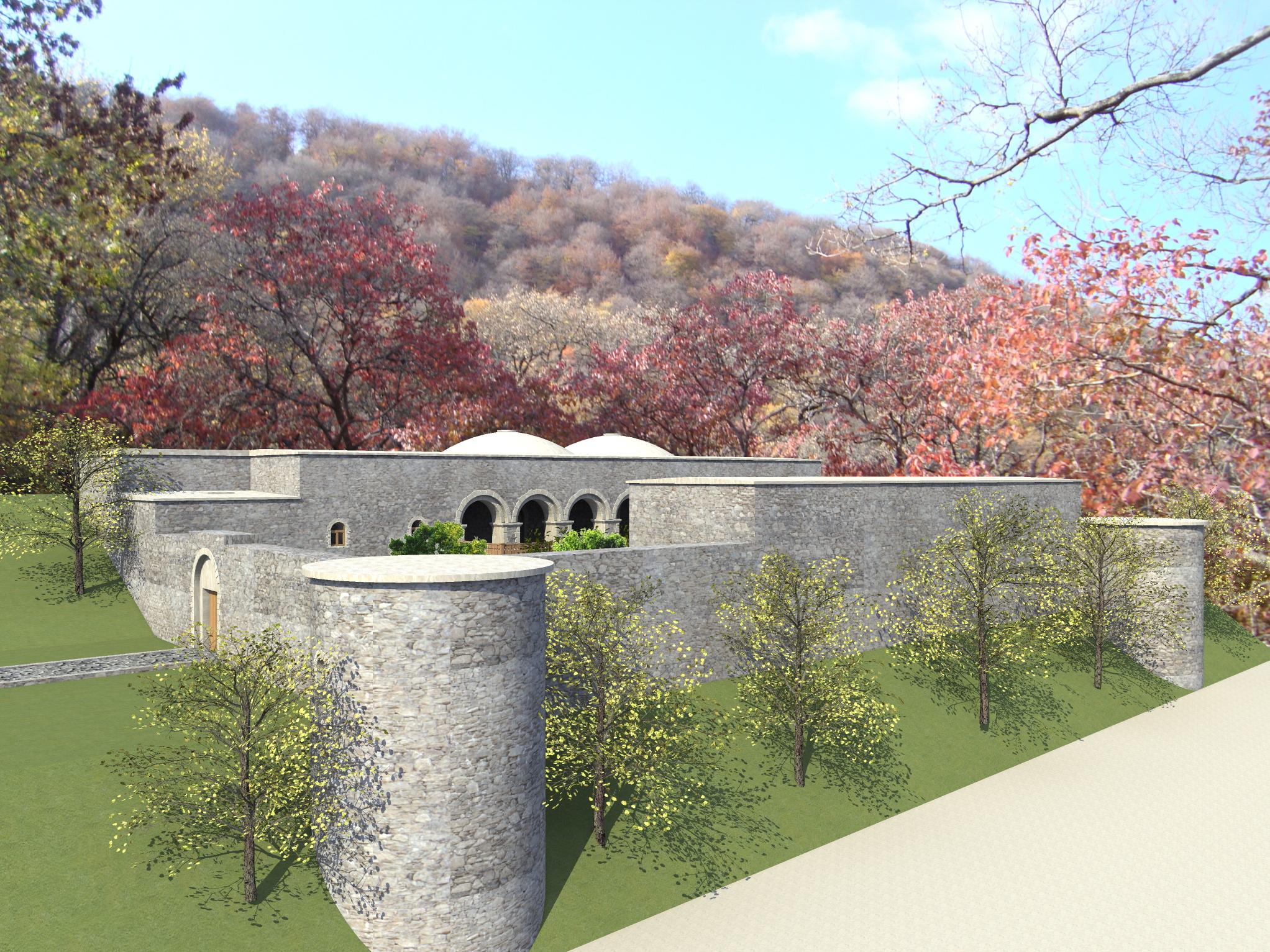 3д визуализация восстановления средневекового дворца - 1
