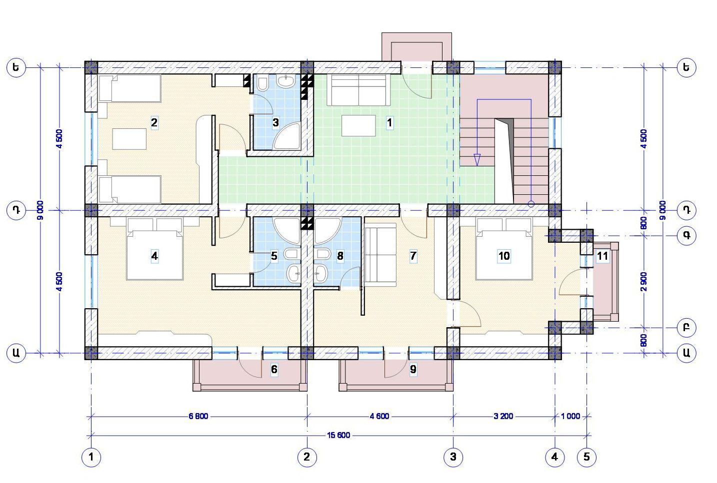 План 2го этажа отеля