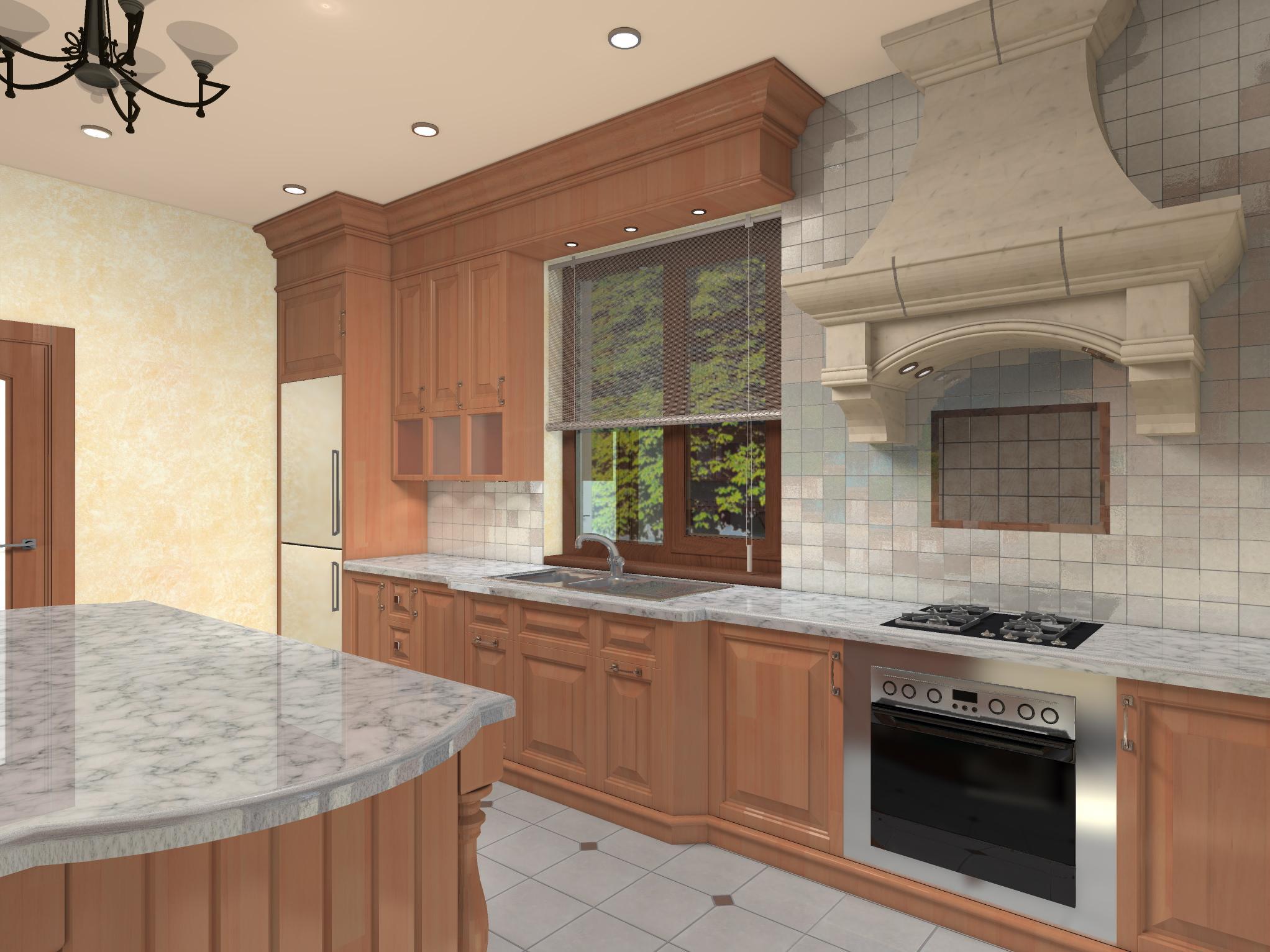 Кухня в частном доме, вариант 2-2