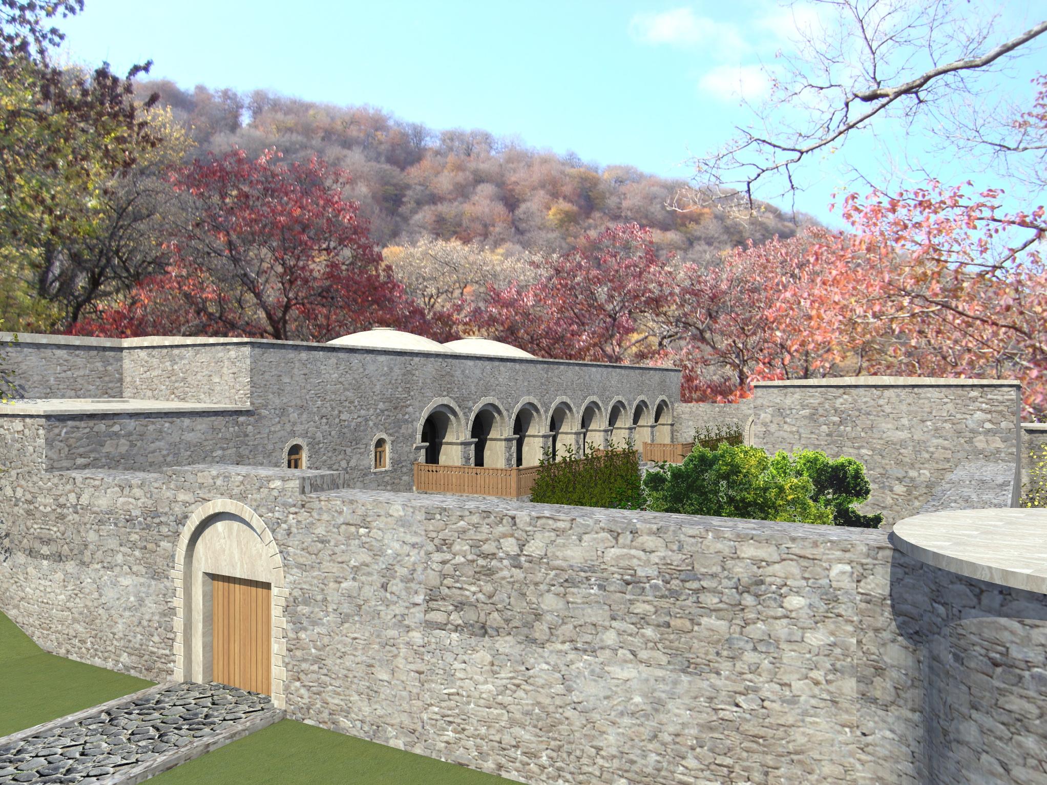3д визуализация восстановления средневекового дворца - 2