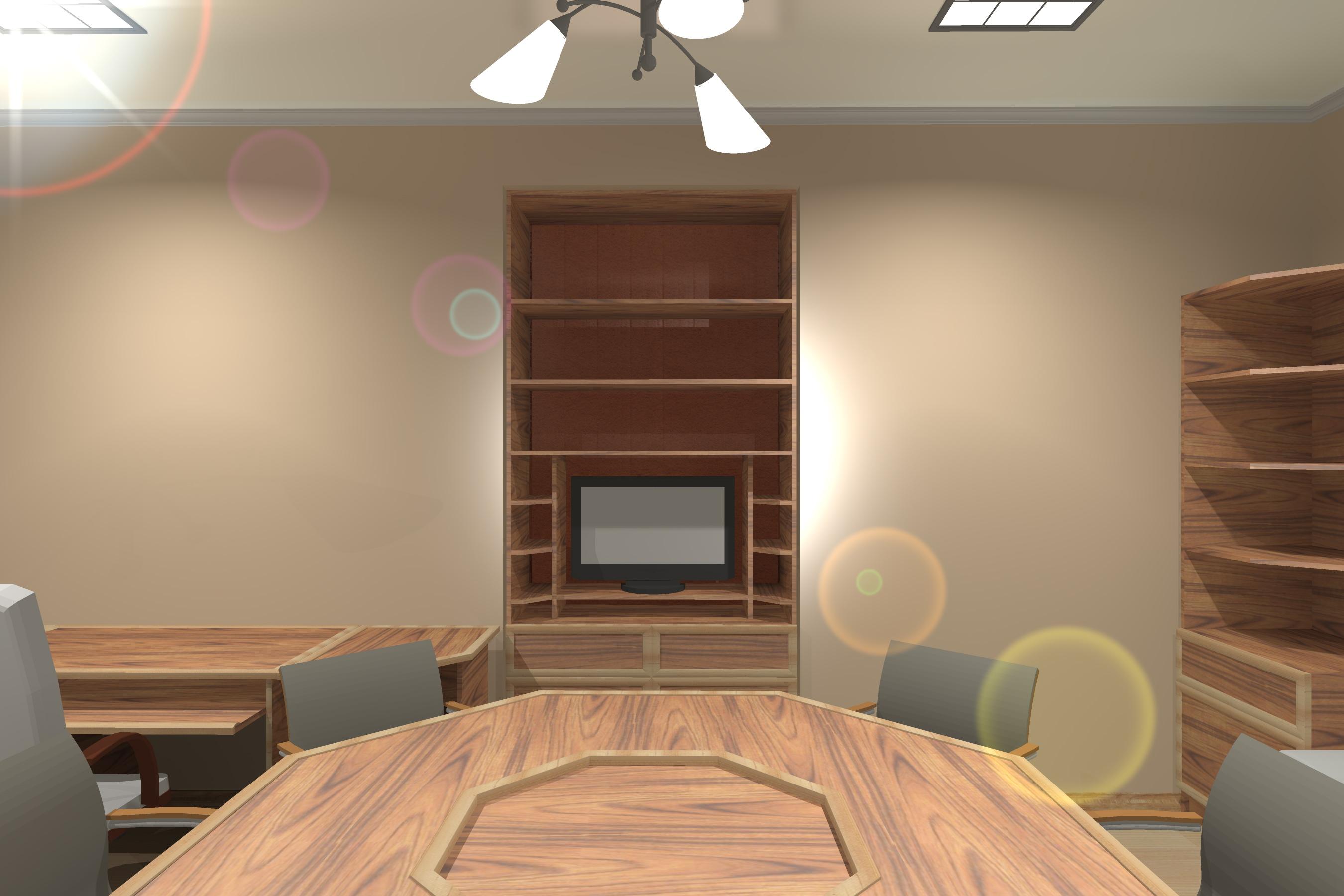 Интерьер с расположением мебели небольшого офиса -4