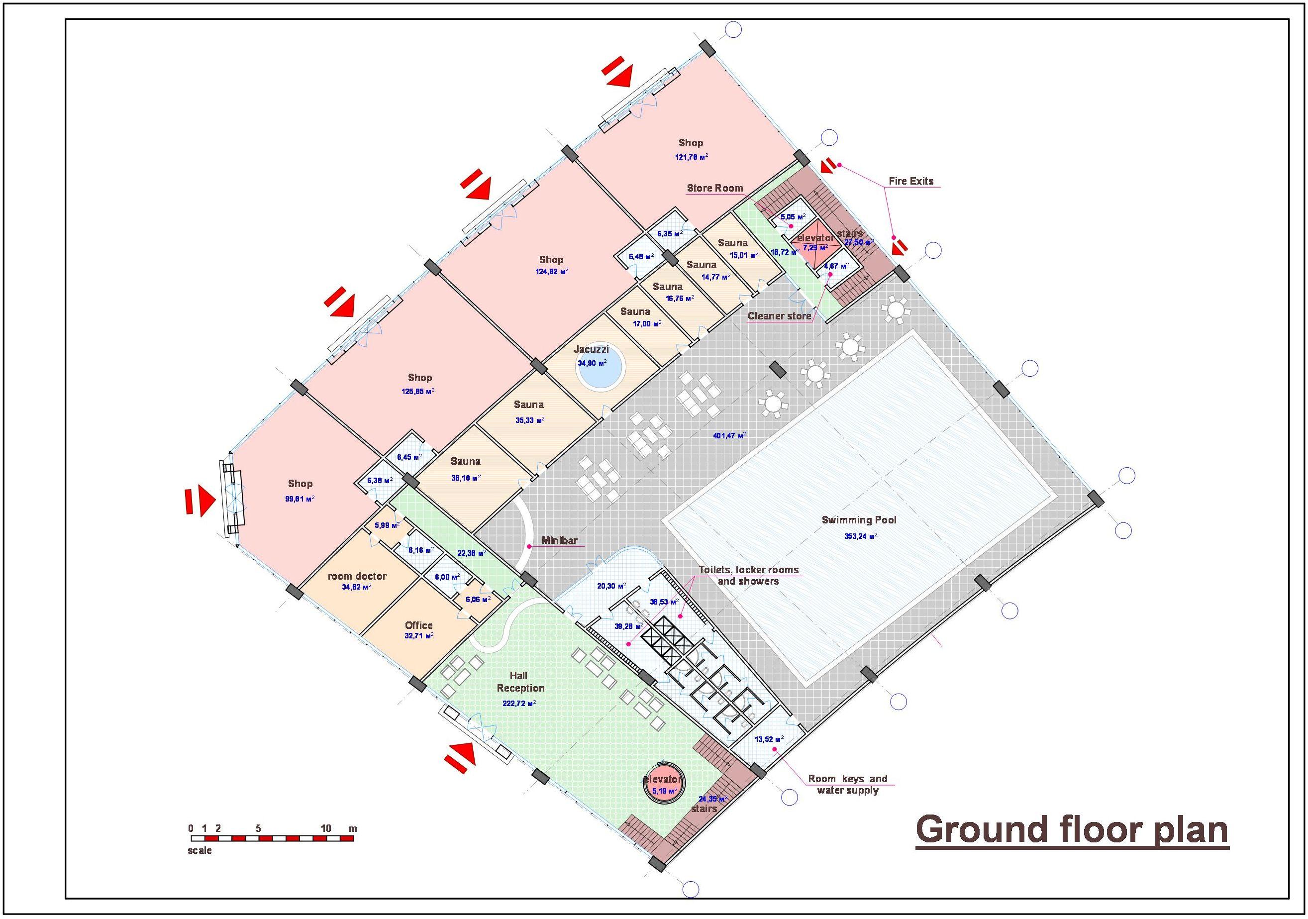 Спортивно-оздоровительный комплекс в Саудовской Аравии. План-2