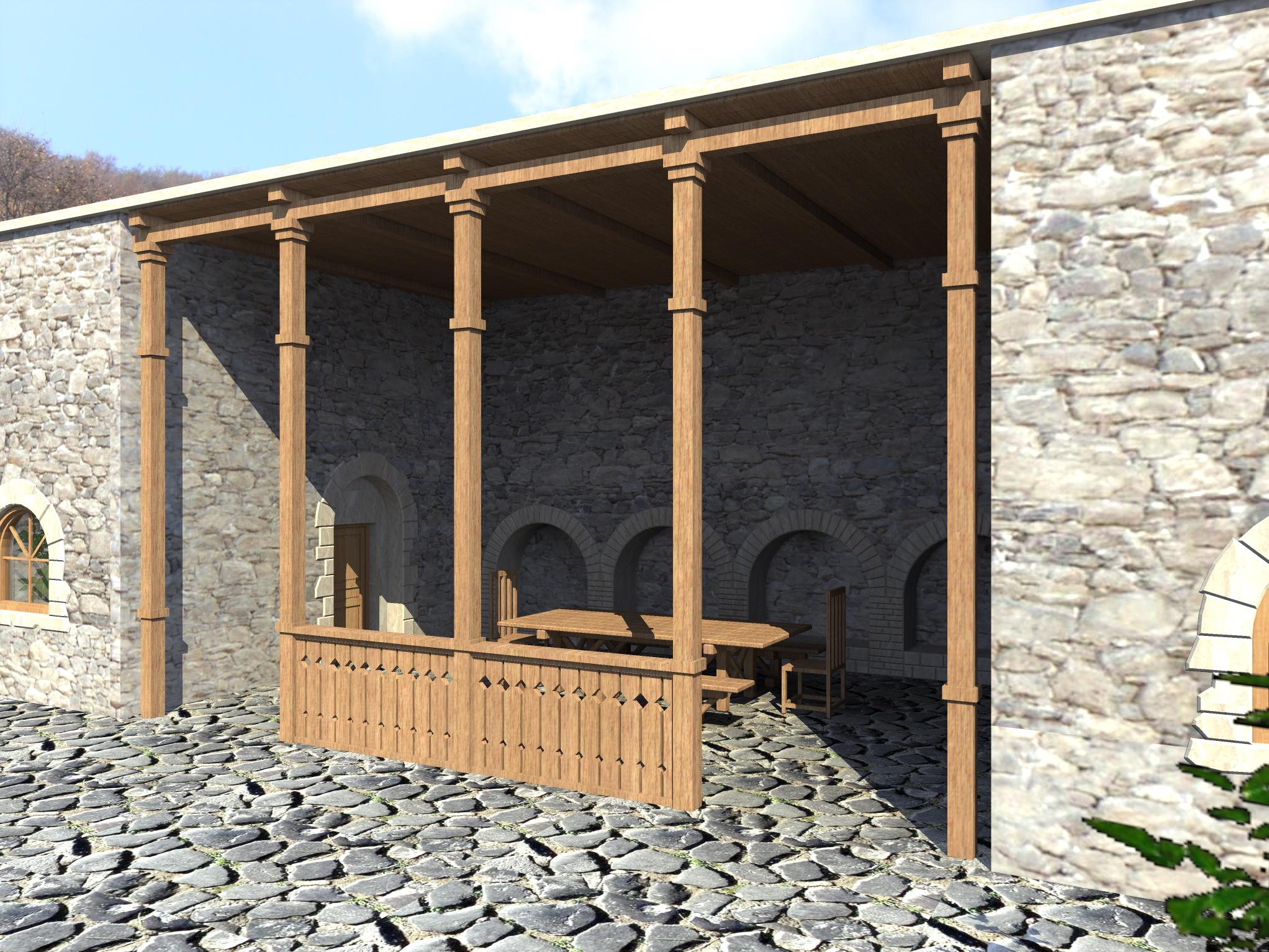 3д визуализация восстановления средневекового дворца - 4