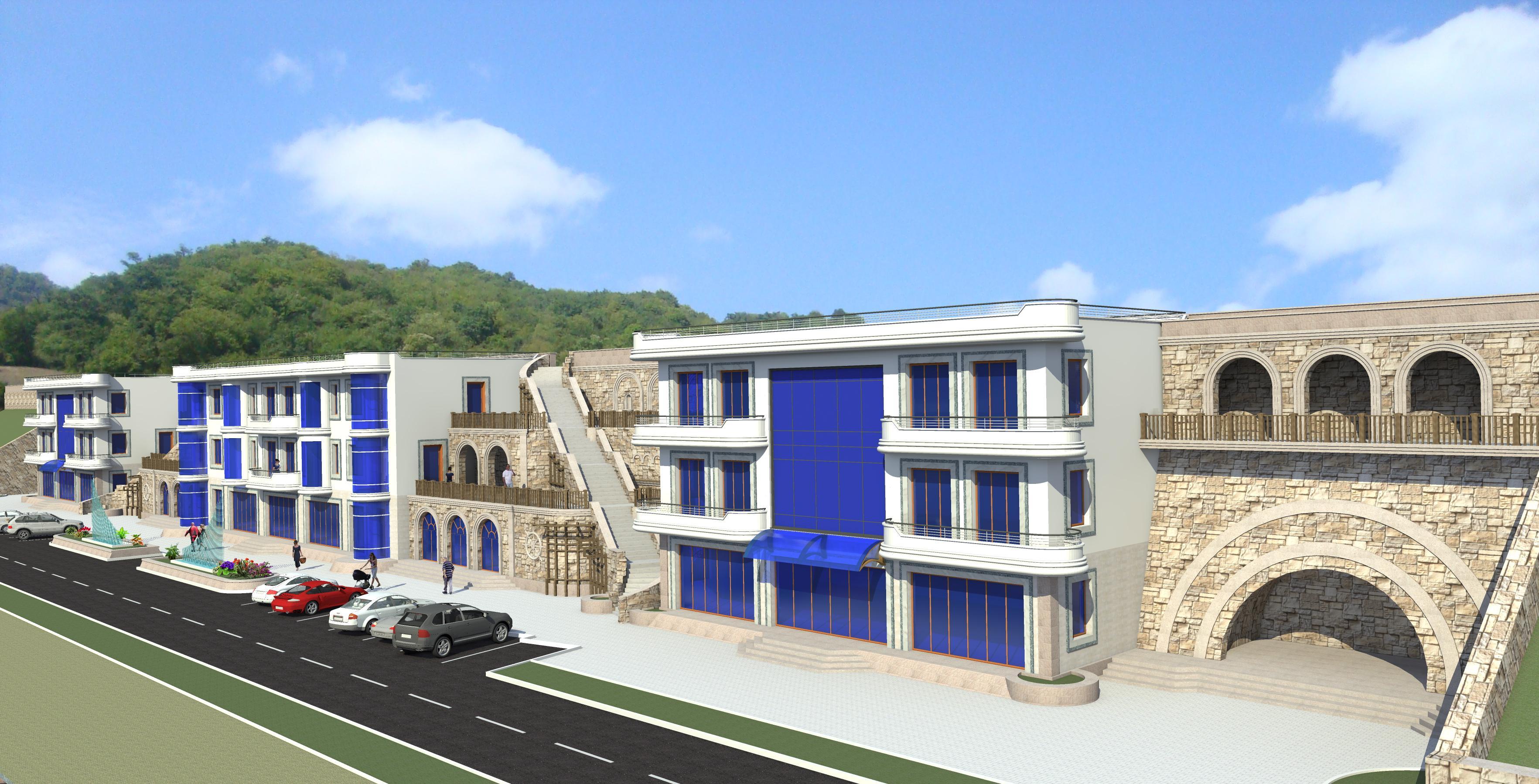 Гостиничный комплекс для курортного городка - перспектива 1