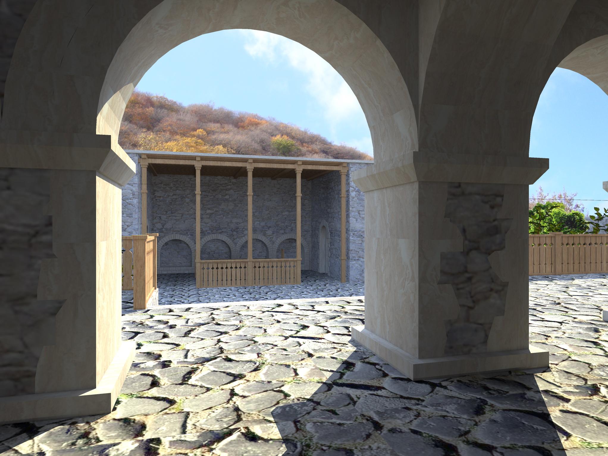 3д визуализация восстановления средневекового дворца - 7