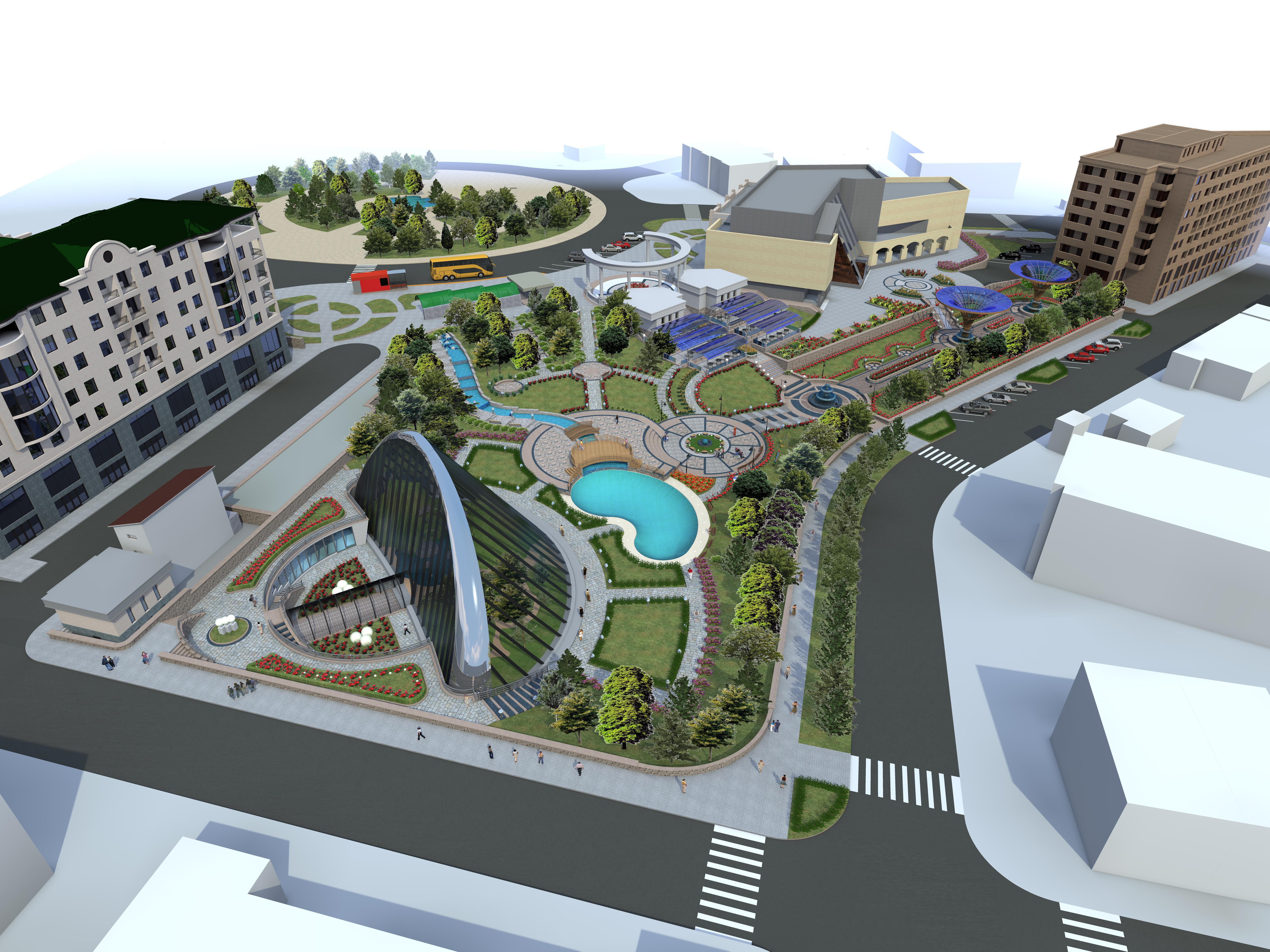 Эскизный проект городского парка