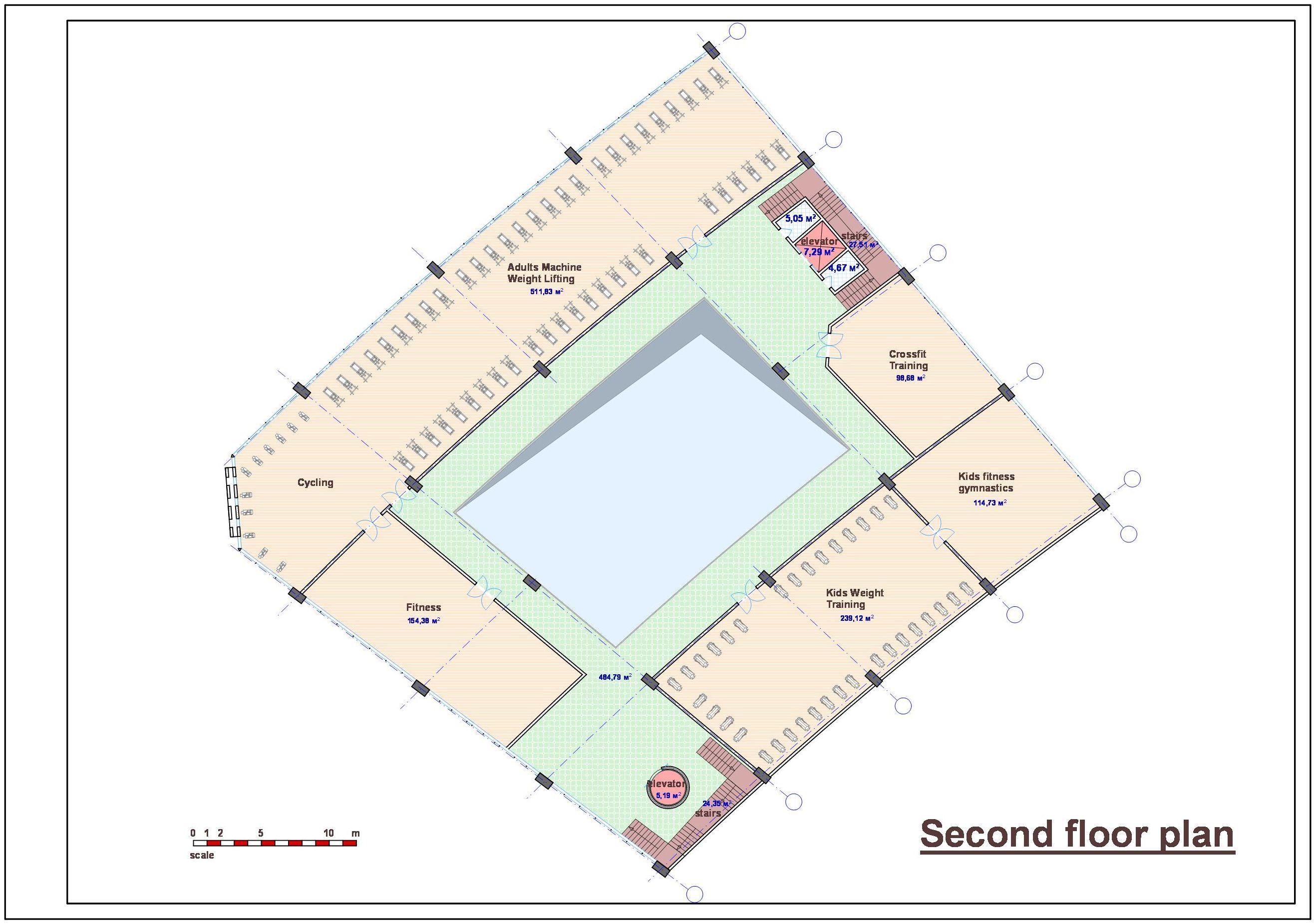 Спортивно-оздоровительный комплекс в Саудовской Аравии. План-3