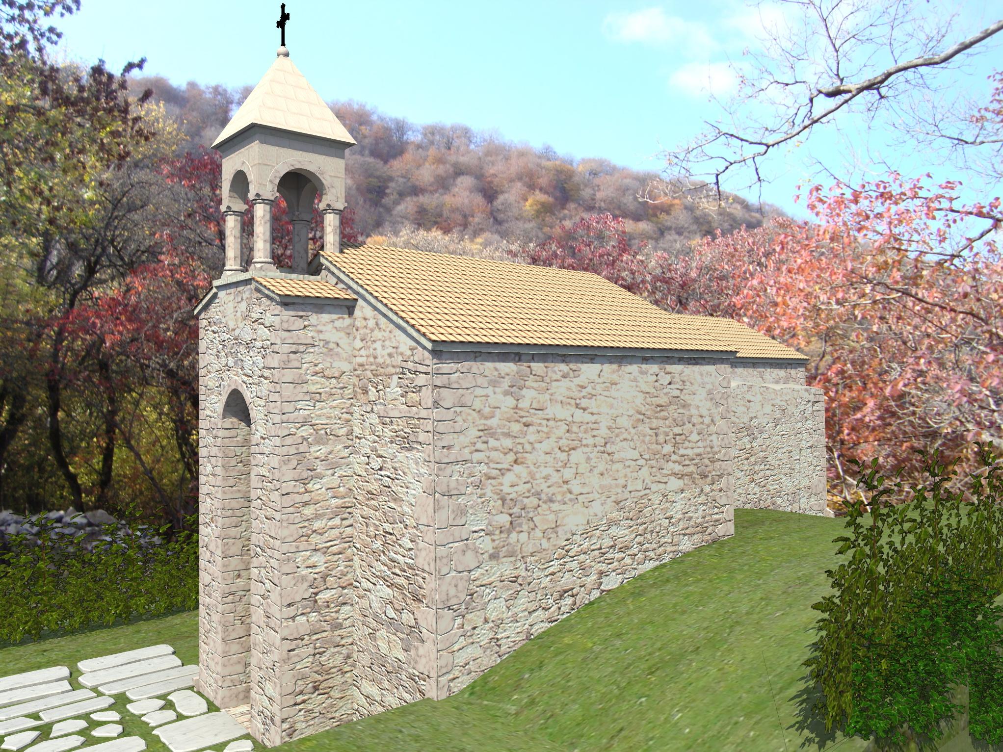 3д визуализация восстановления средневекового храма - 5