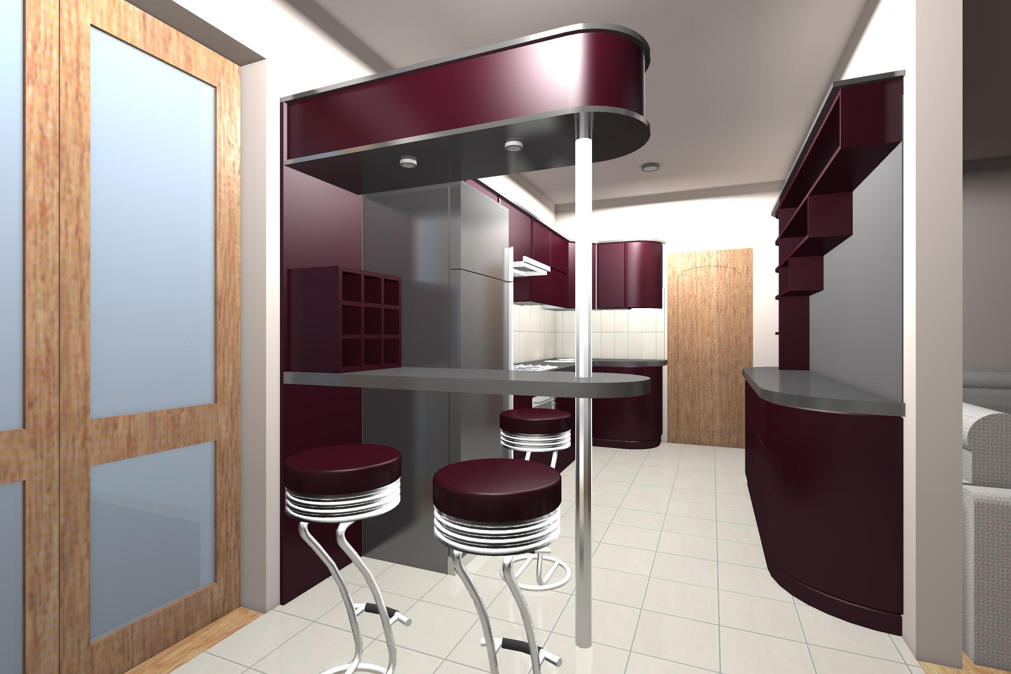 Проект мебелировки гостинного и кухни - 3