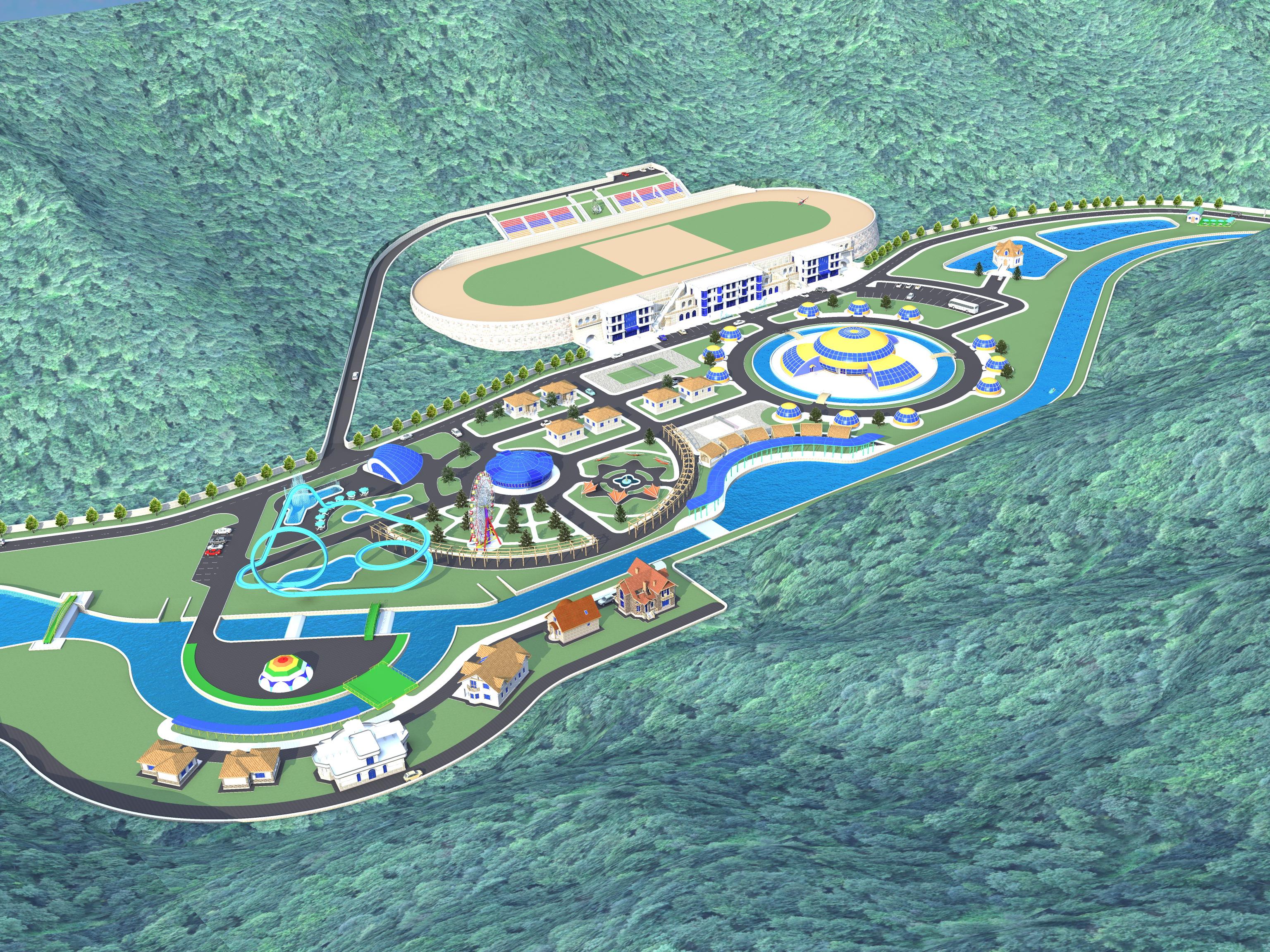 Эскизный проект курортного городка-1