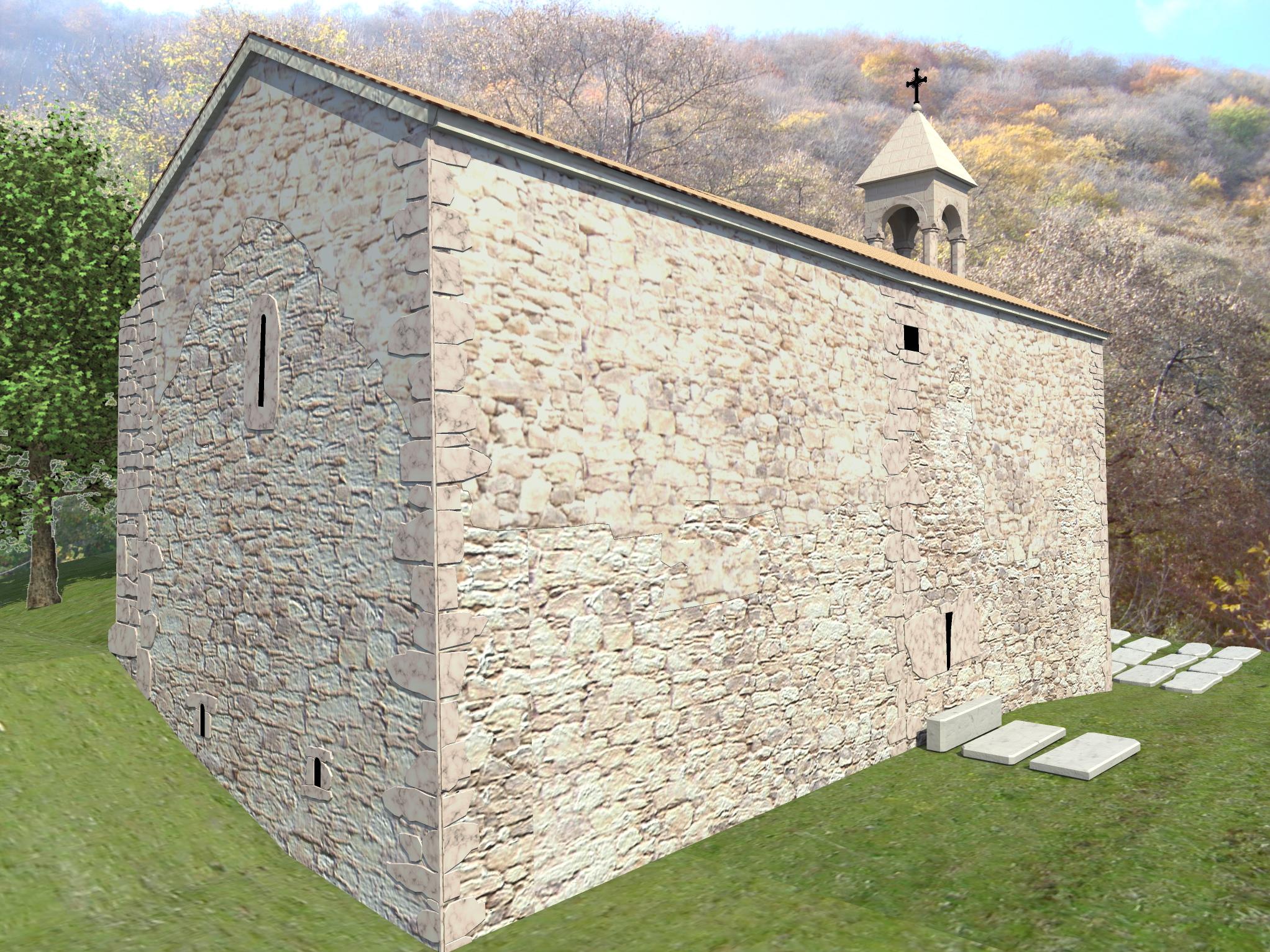 3д визуализация восстановления средневекового храма - 3