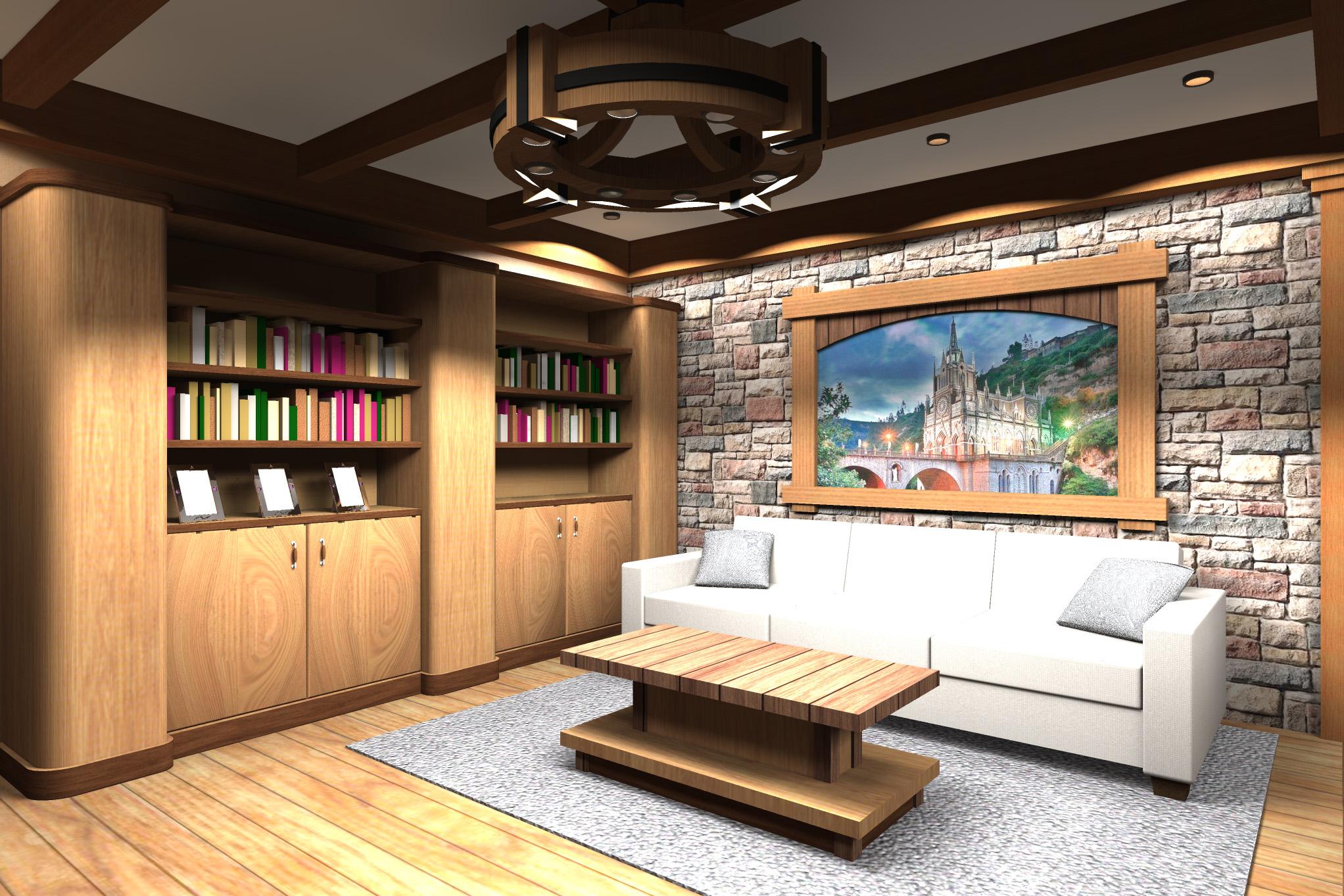Дизайн комнаты отдыха в цокольном этаже - 2