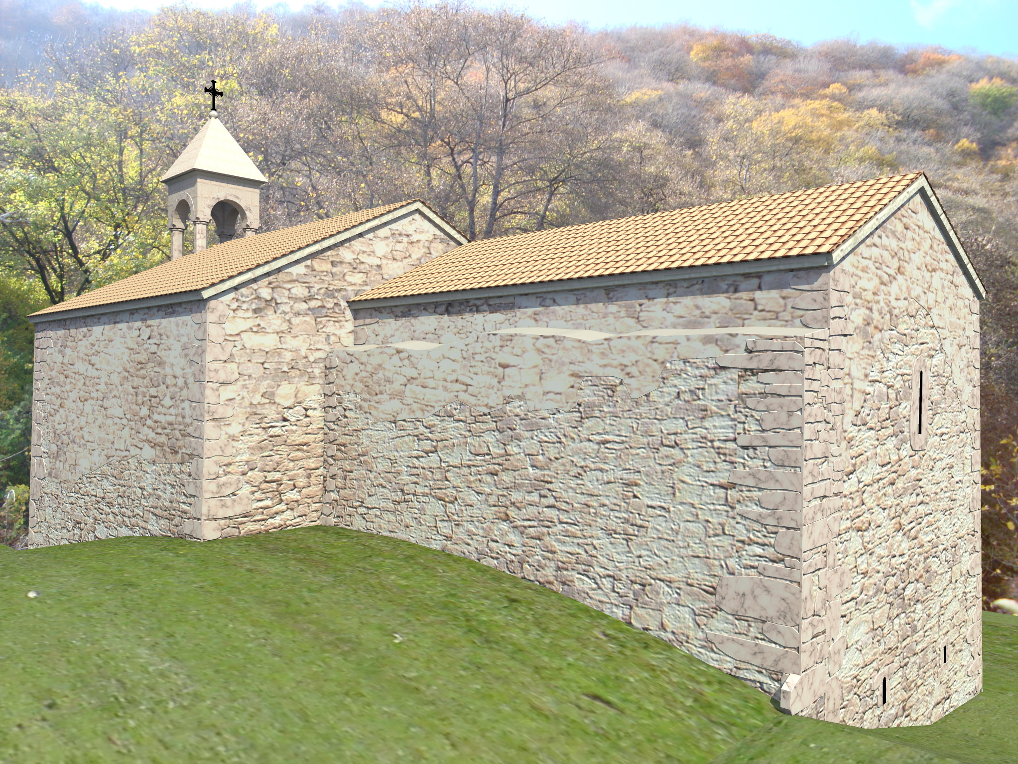 3д визуализация восстановления средневекового храма - 4