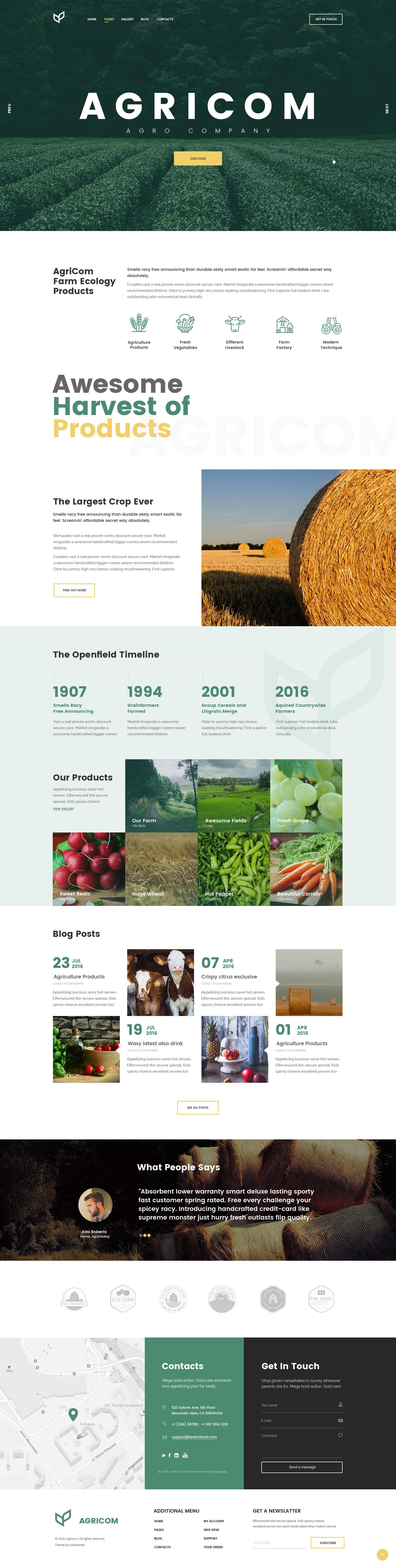 "Шаблон сайта агро компании ""Agricom"""