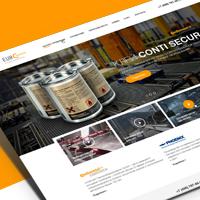 EuroKauchuk - дизайн сайта для компании занимающейся продажей лент