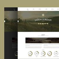 Jason Jordan - дизайн сайта для фотографов