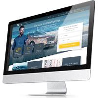 """Посадочная страница для сервиса аренды авто """"GT Rent cars"""""""