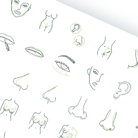 "Набор иконок ""Plastic surgery icons set"""