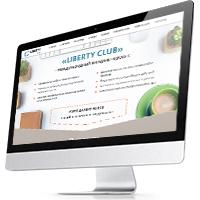 Дизайн лендинга «Liberty club»