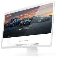 Дизайн лендинга для сервиса аренды авто с водителем «AlegaCars.com»
