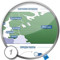 """Дизайн одностраничника логистической компании """"ТехГаз"""" вариант 1"""