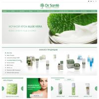 Дизайн косметологичекого сайта Dr.Sante