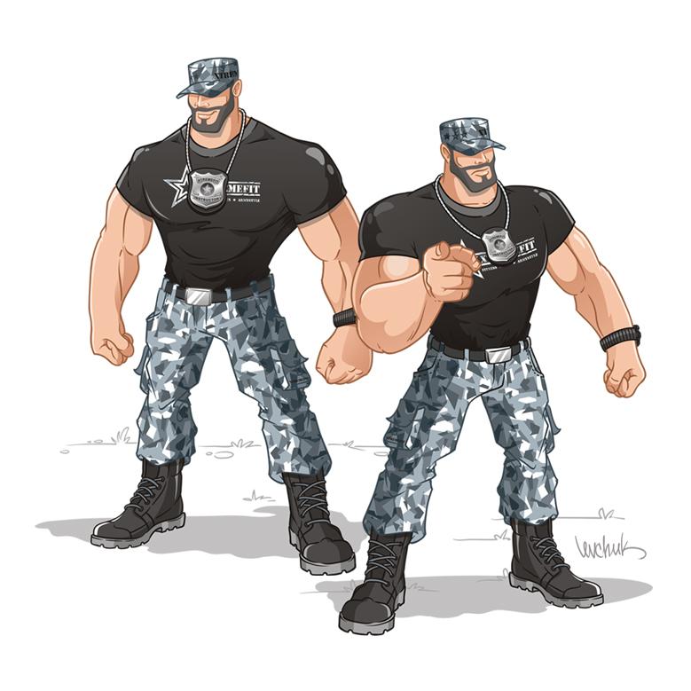 """Персонаж для лагеря экстремальных тренировок """" Mr Xtremefit"""""""